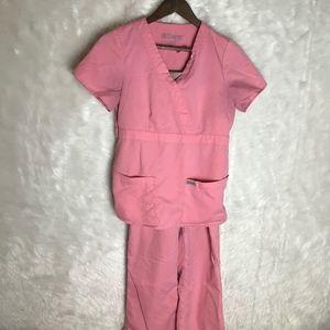 Grey's Anatomy 3 Pocket Mock Wrap Scrub Set